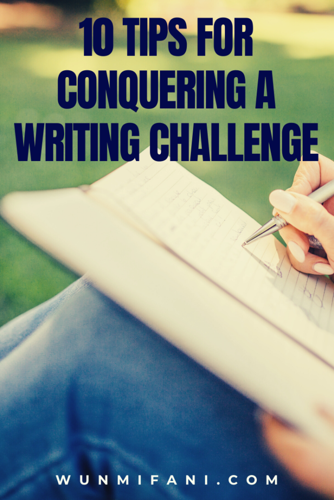 10 tips for conquering a writing challenge