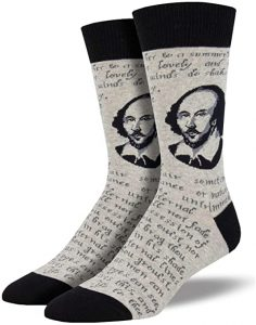Socksmith Shakespeare Sonnet Socks